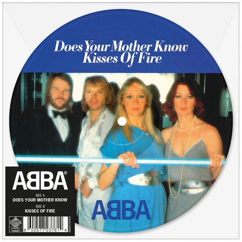 """Does Your Mother Know (Limited 7"""" Picture Disc) von ABBA - Picture Single jetzt im ABBA Official Store"""